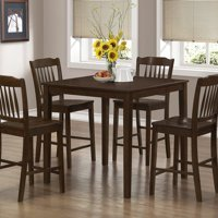 Monarch Dining Set 5Pcs Set / Cappuccino Veneer Counter Height