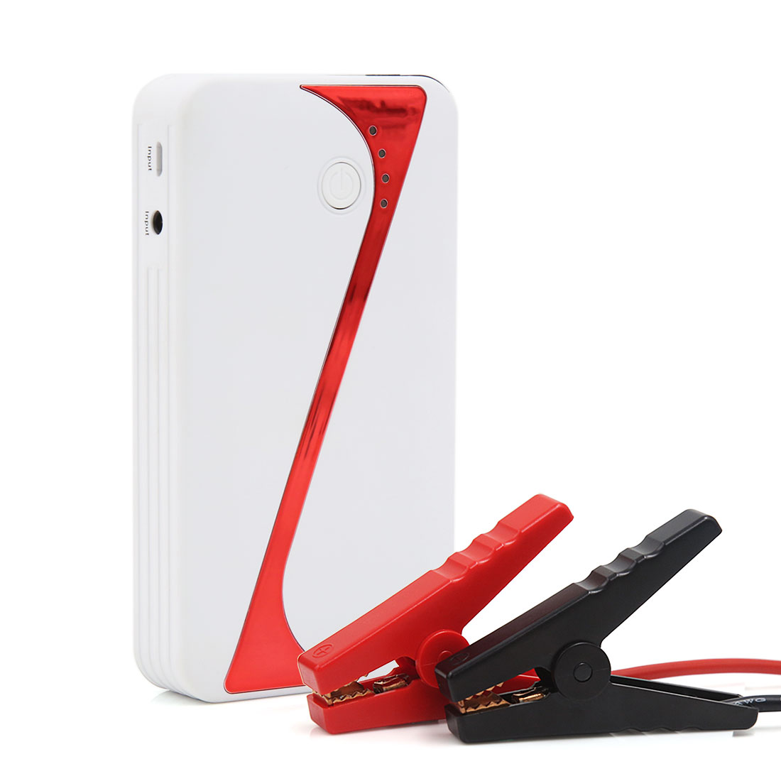 White 9000mAh Multi-Function 12V Car Jump Starter Power Booster Battery Charger