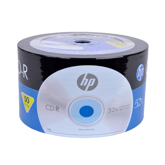 HP 52x 700MB 50-Piece Spindle 80-Minute CD-R Media Music Photo Data