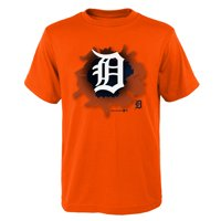 MLB Detroit TIGERS TEE Short Sleeve Boys OPP 100% Cotton Alternate Team Colors 4-18