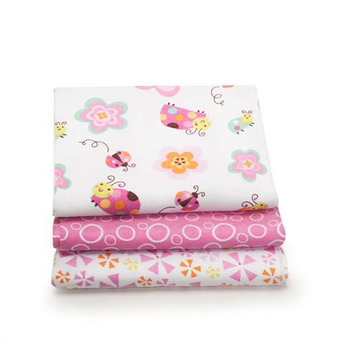 Graco Sweet Ladybug 3-Pack Printed Receiving Blankets