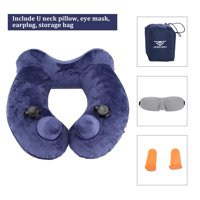 HURRISE Automatic Inflatable U-Shaped Pillow Portable Bone Style Airplane Neck Cushion, U-shaped Pillow, Air Neck Pillow