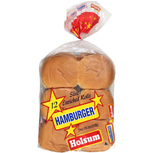 Holsum: Sliced Enriched Hamburger Rolls, 19 Oz