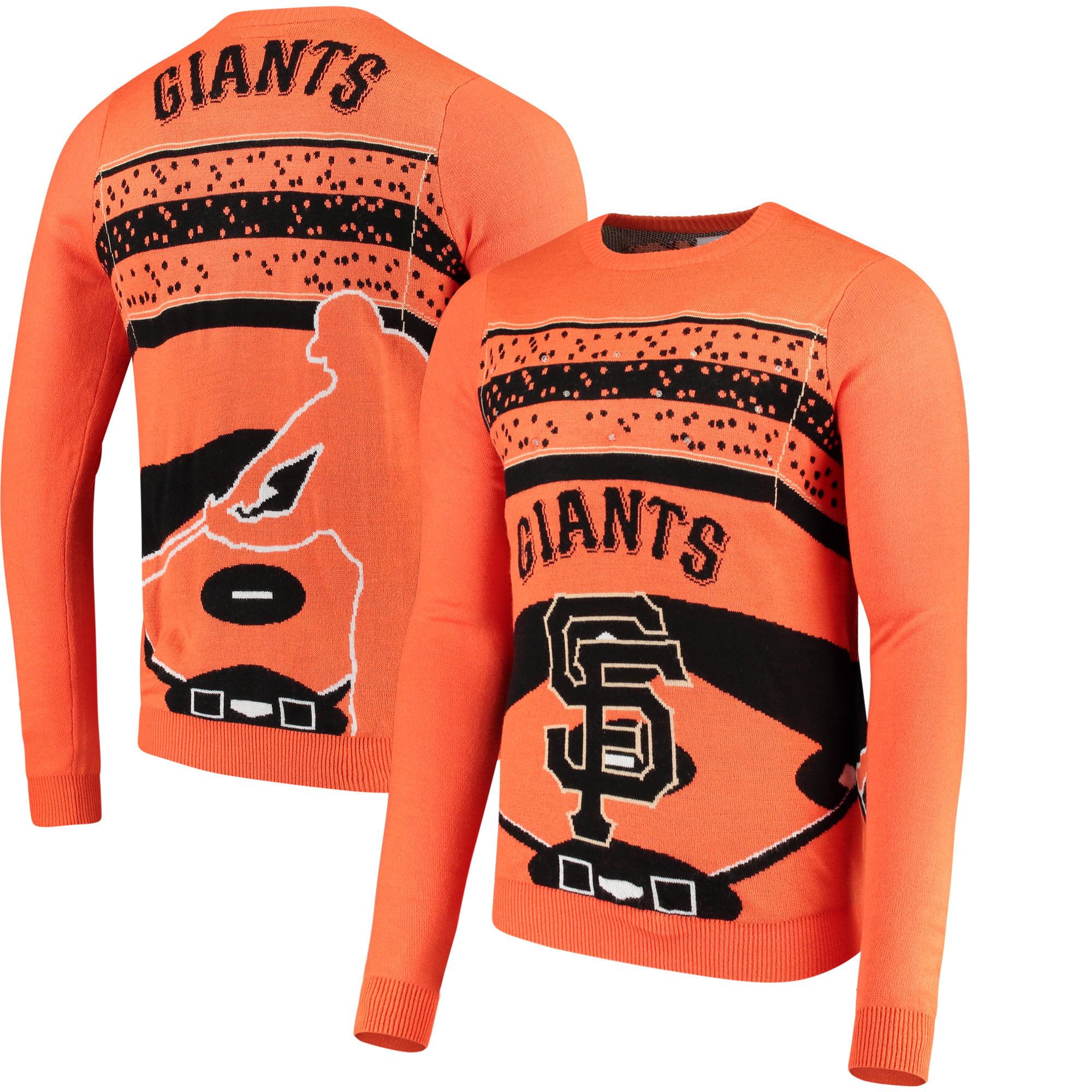 San Francisco Giants Light Up Crew Neck Sweater - Orange