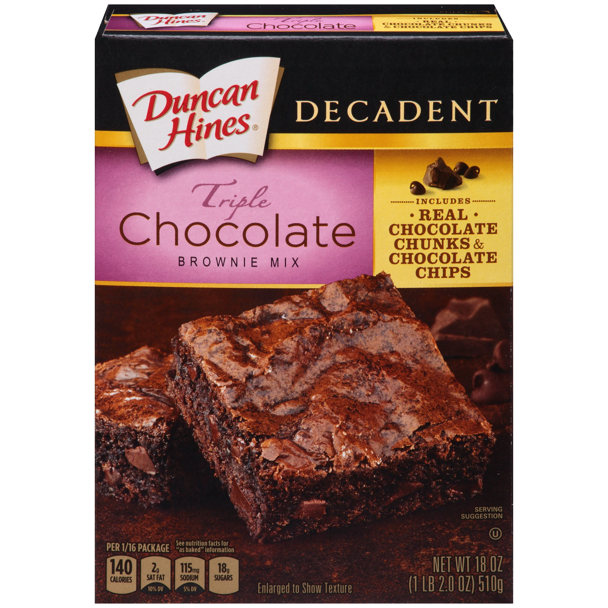 Duncan Hines Devils Food Cake Mix Brownies