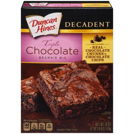 Duncan Hines Decadent Triple Chocolate Brownie Mix, 18 - Halloween Chocolate Brownies