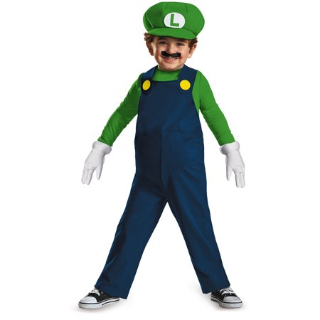 Luigi Toddler Halloween Costume - Mario And Luigi Costumes Womens