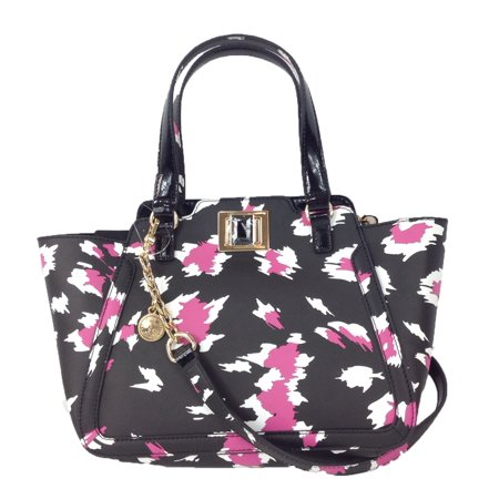 Juicy Couture Wild Thing Leather Small Wing Tote Bag, Black Leopard (Juicy Couture Handbags And Purses)
