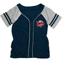 MLB Minnesota Twins Girls Short Sleeve Button Down Mesh Jersey