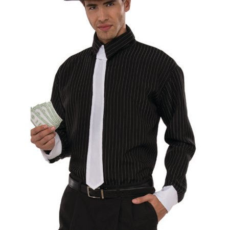 Men's Roaring 20s Speakeasy Mobster Gangster Shirt Costume - 1920 Gangsters Costume