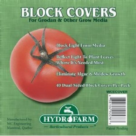 Hydrofarm HGCOV4 Rockwool Block Cover (40 Pack), (Rockwool Block Cover)