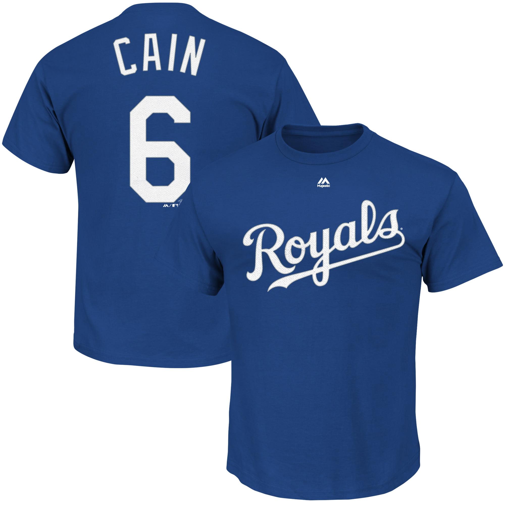 Lorenzo Cain Kansas City Royals Majestic Player Name & Number T-Shirt - Royal