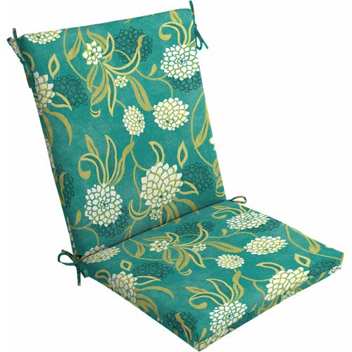 Mainstays Outdoor Dining Chair Cushion, Snowball Floral