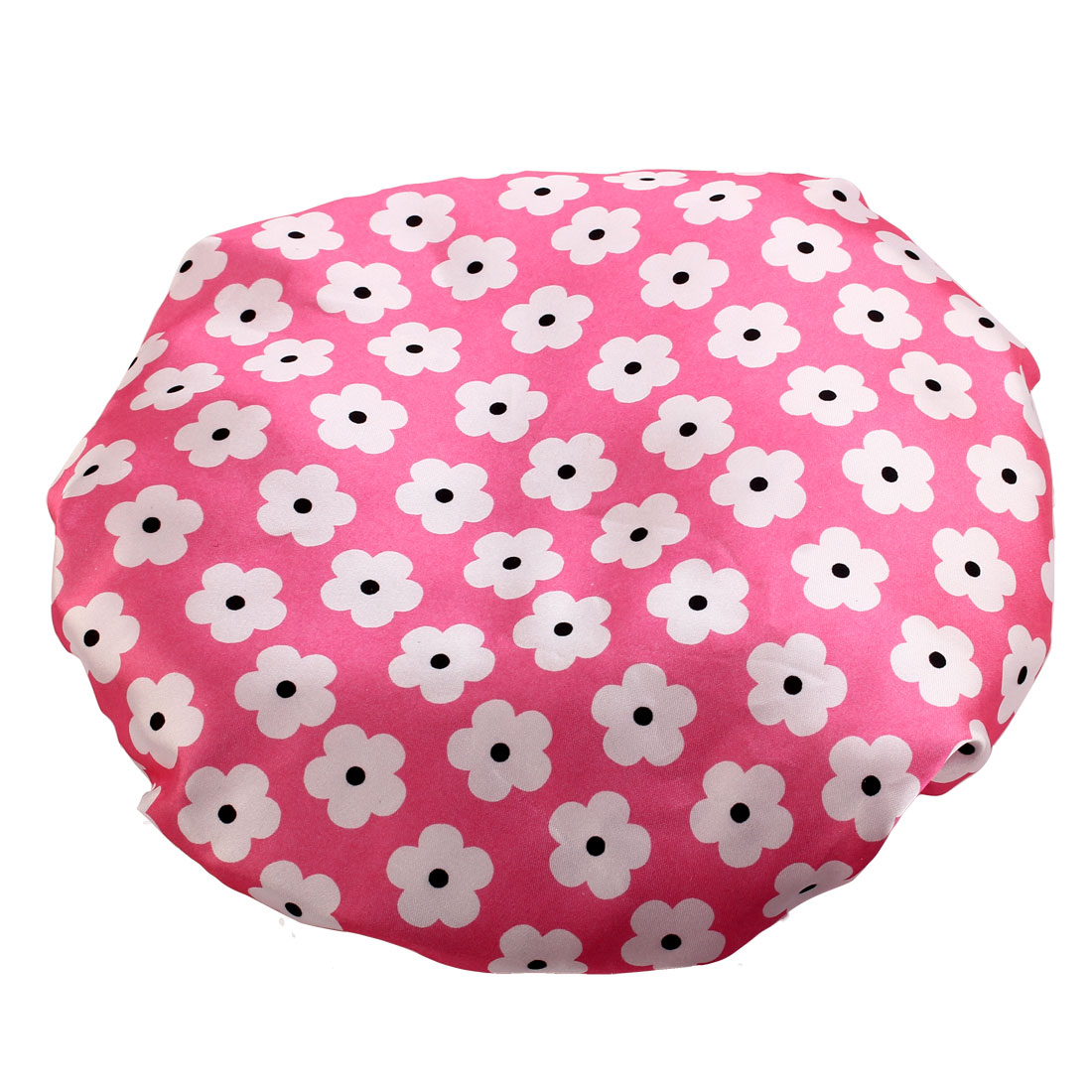 Unique BargainsWomen Polyester Flower Pattern Hair Protector Water Resistant Spa Shower Cap
