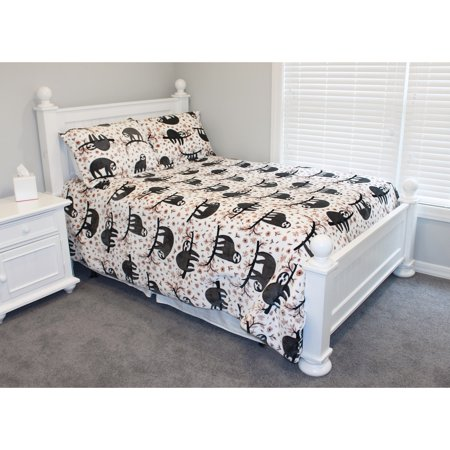 Thro  Seth Sloth Flannel Fleece Comforter Set (Flannel Comforter Set)