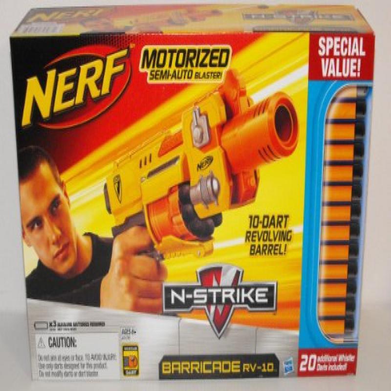 Hasbro Nerf N-Strike Barricade RV-10 Motorized Semi-Auto ...