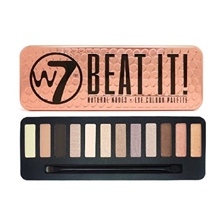 W7 Beat It! Natural Nudes Eye Colour Palette Tin, 12 Eye Shadows + Cat Line Makeup Tutorial