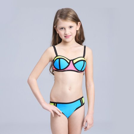 b99066677926c WALFRONT - WALFRONT Lovely Two-Piece Swimsuit Bikini Swim Swimming Suit  Swimwear for Children Kids Girls , Kids Swim Suit, Girl Swimwear -  Walmart.com