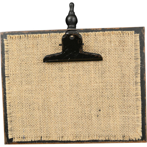 Better Homes and Gardens 5x7 Burlap Clip Frame, Black