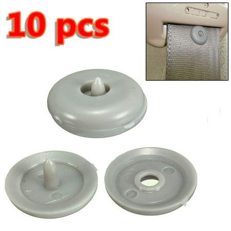 10pcs Car Truck Van Seatbelt Buckle Retainer Anti Slip Plastic Stop Buttons Clip ()