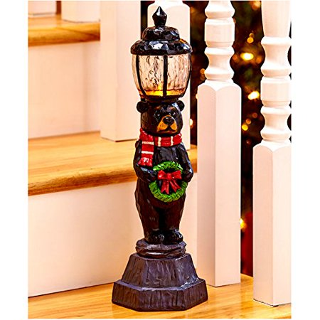 christmas decorations battery operated light lamp post indoor decor 15 14