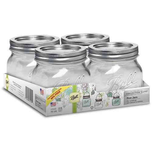 ball 16 oz mason jars. ball collection elite 16-ounce mason jars, 4-pack 16 oz jars o