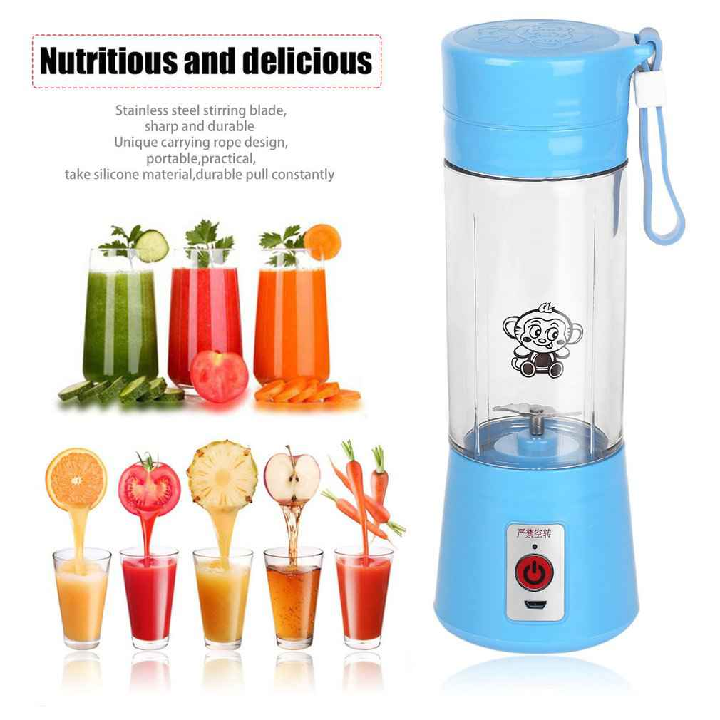 Portable 380ml USB Electric Fruit Juicer Machine Blender Shake Handheld Smoothie Maker