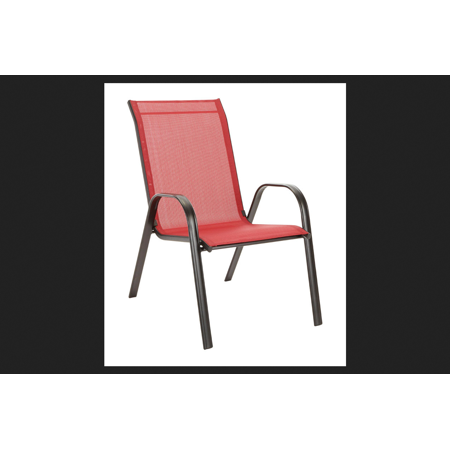 Living Accents Sling Stackable Chair Red Walmart Com