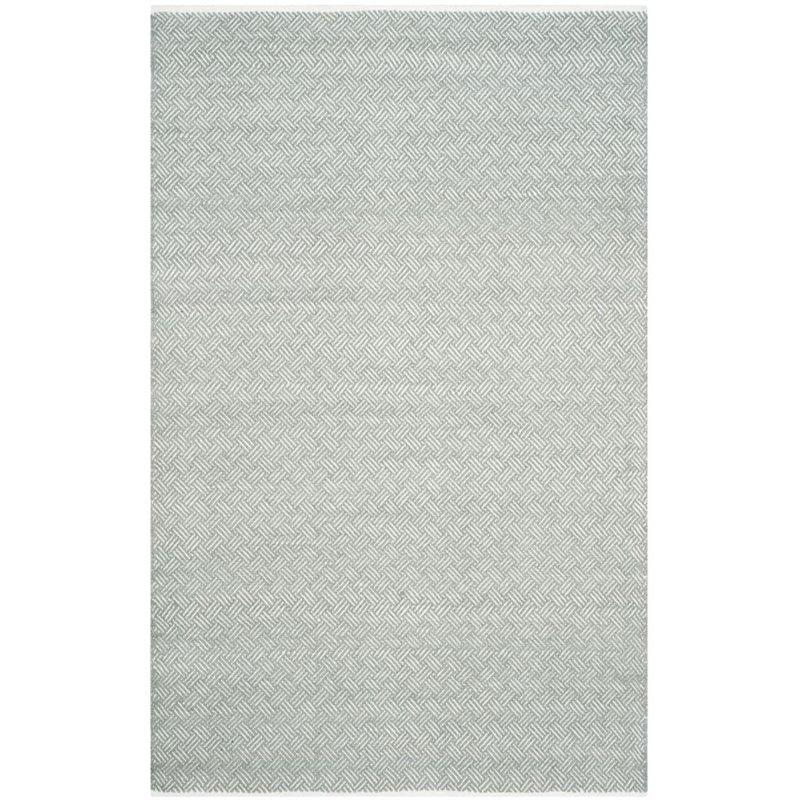 Safavieh Boston 8' Square Hand Woven Cotton Pile Rug in Gray - image 5 de 9