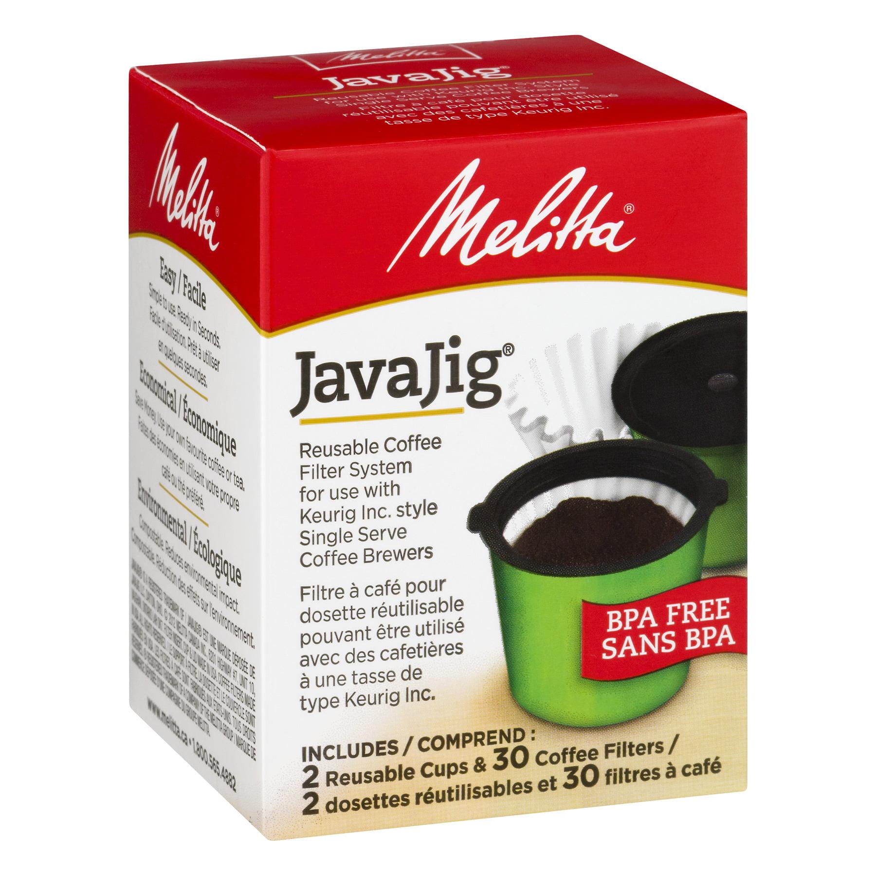 melitta® javajig® k-cups for keurig k-cup brewers reusable coffee ...