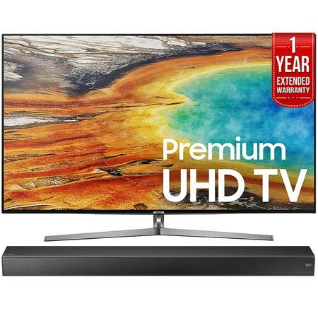 Samsung Un55mu9000 55 Inch 4K Ultra Hd Smart Led Tv  2017 Model    Hw Ms750 Sound  Premium Soundbar   1 Year Extended Warranty