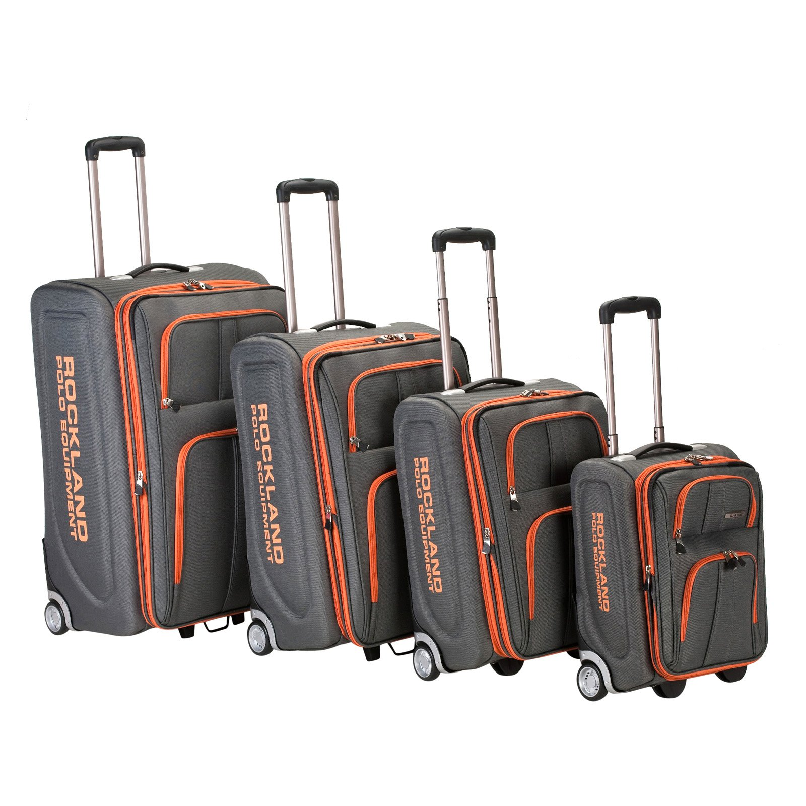 "Rockland Luggage Varsity F120 4-Piece Softside Expandable Luggage Set (30"", 26"", 22"" & 18"" Suitcase)"