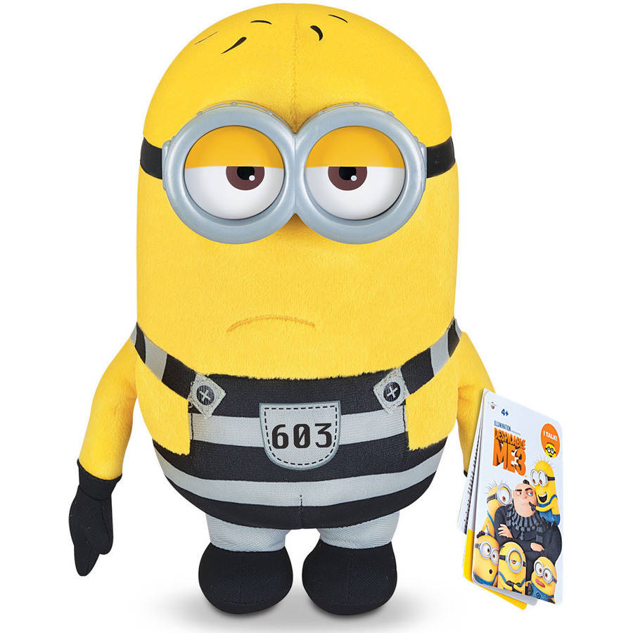 "Despicable Me 3 Deluxe Talking Huggable Jail Time 9.5"" Plush Tom"