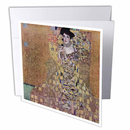 3dRose Portriat of Adele Block-Bauer I by Gustav Klimt, Greeting Cards, 6 x 6 inches, set of -