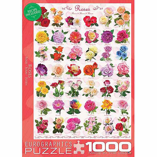 EuroGraphics Roses 1000-Piece Puzzle