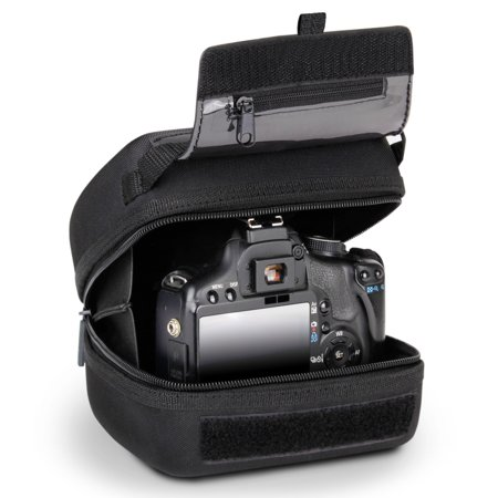 Dslr Protection - Quick Access DSLR Hard Shell Camera Case with Molded EVA Protection, Padded Interior, Holster Belt Loop and Rubber Coated Handle by USA Gear