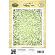 "JustRite Papercraft Cling Background Stamp 4.5""X5.75""-Elegant Fronds"