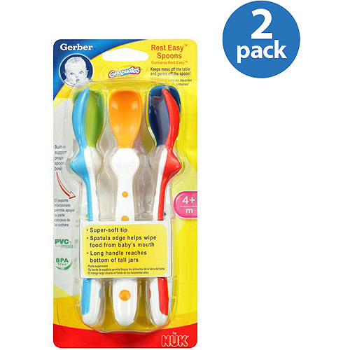 Gerber Graduates Rest Easy Spoons, 5 count (Pack of 2)