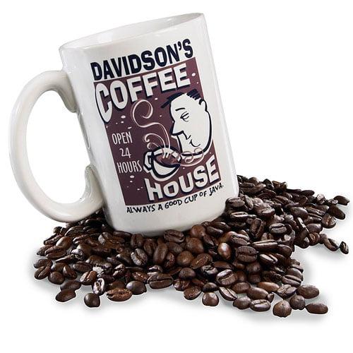 Personalized Coffee House Coffee Mug, 15 oz