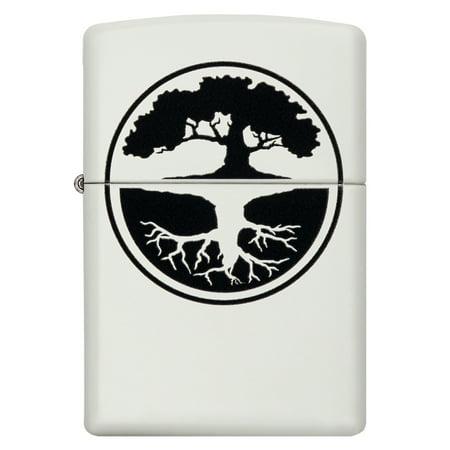 ZIPPO TREE OF LIFE WHITE MATTE LIGHTER