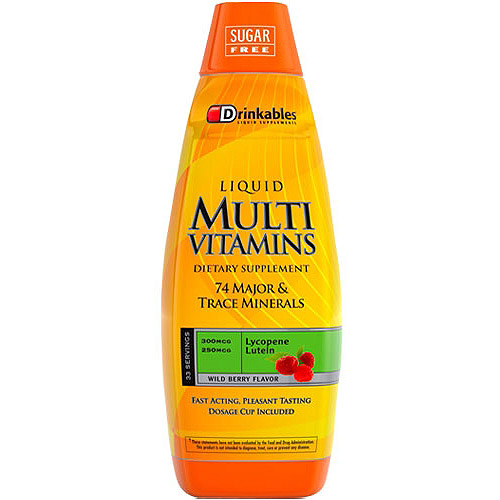 Drinkables Liquid Multi Vitamins Dietary Supplement, 33 oz