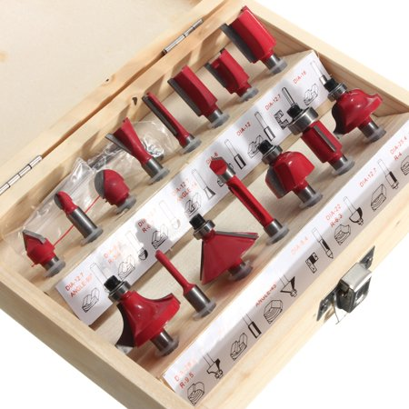 15Pcs Router Bit Set Wood Working 1/4'' Shank Tungsten Carbide Rotary Tool Kit - image 7 of 8