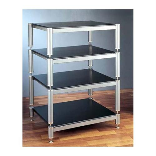 BL Series Stackable Audio Video Rack (Black w Cherry Shelf)