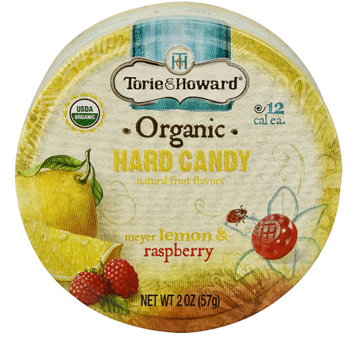 Torie & Howard Organic Hard Candy Meyer Lemon & Raspberry...