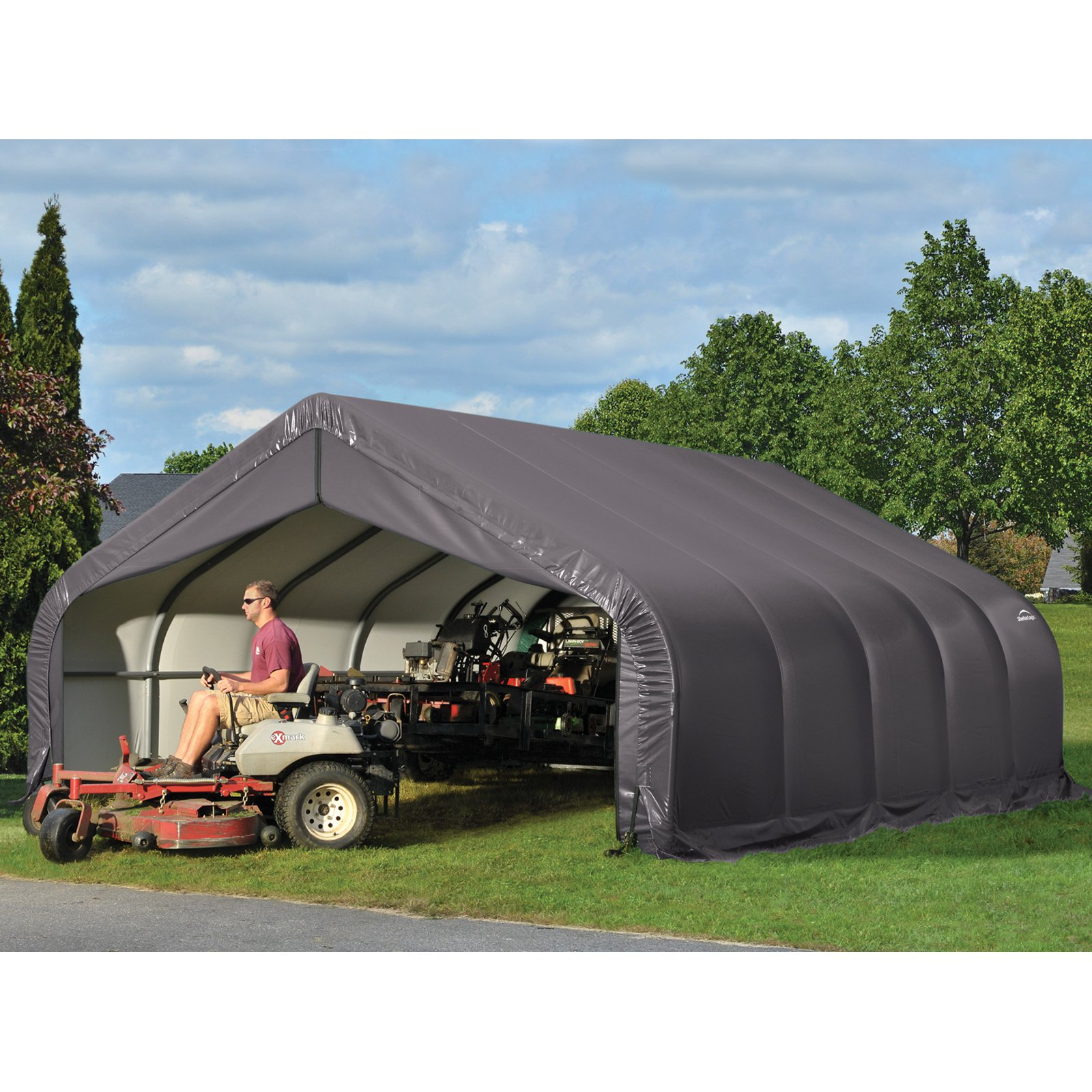 Shelterlogic 18' x 24' x 11' Peak Style Shelter, Green