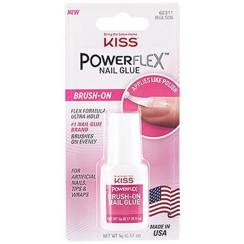 (2 Pack) Kiss Products Kiss Powerflex Nail Glue, 0.17 oz