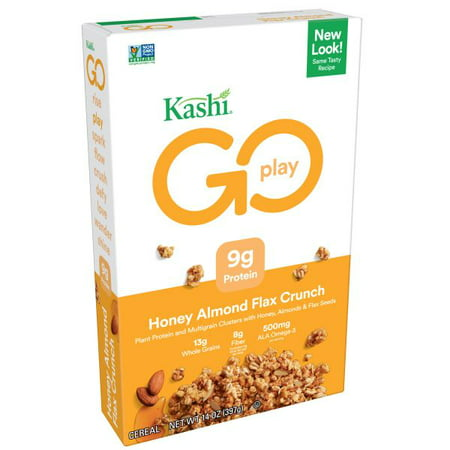 (2 Pack) Kashi Go Lean Crunch Breakfast Cereal, Honey Almond Flax, 14 Oz