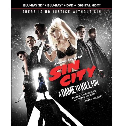 Frank Miller's Sin City: A Dame To Kill For (3D Blu-ray + Blu-ray + DVD + Digital HD) (With INSTAWATCH)
