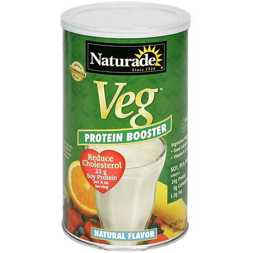 Naturade Veg Natural Flavor Protein Booster Powder, 15 oz