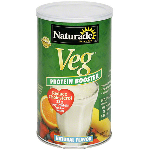 Naturade Veg Natural Flavor Protein Booster Powder, 15 oz